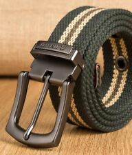 New Pattern Canvas Material Alloy Metal Pin Buckle Strap Belt For Men