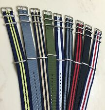 """Canvas Watch Band Strap 18mm 20mm 22mm Nylon Military TIMEX Weekender """"Style""""USA"""
