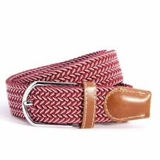 Unisex Multi-color Elastic Style Stretchy Leather Silver Metal Buckle Belt