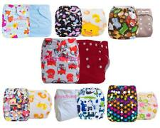 Brand 2x Baby Infant Cloth Diaper One Size Reusable TPU Nappy Covers Inserts