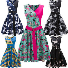 50S 60S ROCKABILLY WOMEN Vintage Swing Pinup Retro Housewife Party Dress S-2XL
