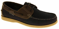 Mens Leather YACHTSMAN Lace Up Boat Loafers Formal Moccasin Sailing Deck Shoes