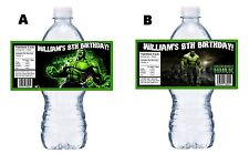 20 THE INCREDIBLE HULK CUSTOM BIRTHDAY PARTY FAVORS WATER BOTTLE LABELS WRAPPERS