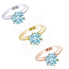 2.00 Ct D/S1 Round Cut Diamond Solitare Engagement Ring 14k Gold $767.88