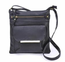 Women PU Leather Vintage Style Casual Long Strap Cross Body Shoulder Bag