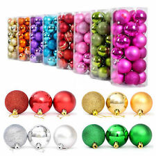 24x Christmas Balls Hanger Baubles Xmas Tree Ornament Christmas Decoration gift