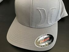 BRAND NEW HURLEY HERMOSA 2.0 HEATHER FITTED HAT GRAY FLEXFIT CAP ONE S M L XL