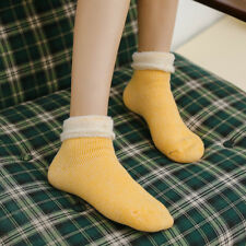 Womens Winter Socks Warm Casual Crew Indoor Sock Solid Heavy Thick Thermal Socks