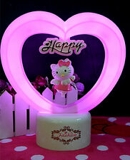 Hellokitty Heart Led Light cartoon Desktop lamp nightlight Lamp Beds USB