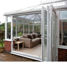 White uPVC 2 Segment Bi Folding Doors
