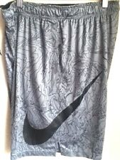 AUTHENTIC NIKE DRI-FIT GRAPHIC PRINT GREY BASKETBALL SHORTS  904627-065