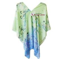 Tropical Kaftan Caftan Resortwear Beach Top Loose Tunic Poncho One size Sheer