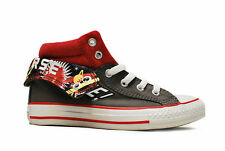 Kids Converse - CT PC2 Mid - 335177C - Charcoal/Red Trainers