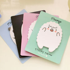 1x Sheep / Panda Sticky Notes Sticker Bookmarker Memo Pad Home Office Class LJ