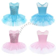 Girl Kid Gymnastic Dance Dress Ballet Tutu Sequinned Party Princess Costume 3-10