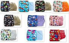 New Brand 2x Baby Infant Cloth Diaper One Size Reusable TPU Nappy Covers Inserts