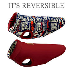 Reversible Dog Coats Clothes Winter Dog Clothes Warm Jacket for Small Large Dogs