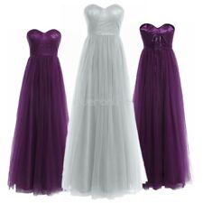 Chic Women Mesh Bridesmaid Party Long Dress Cocktail Lady Evening Ball Prom Gown