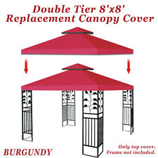 Replacement Canopy Top Patio Pavilion Cover for 8'X8' Gazebo Sunshade