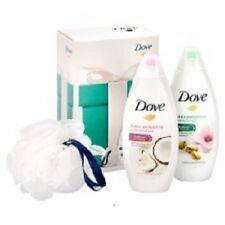 Dove Real Beauty Pampering Set Contains 2 x 250ml Body Wash & 1 Shower Puff