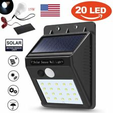 20 LED Solar Power PIR Motion Sensor Wall Light Waterproof Outdoor Garden Lamp
