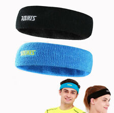 Sports Cotton Sweatbands Workout Gym Athletic Headbands Terry Cloth Mens Womens