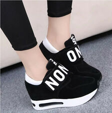 Women's Sneakers Athletics Breathable Lace up Running Casual Shoes