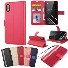 Beautiful Bling Flower PU Leather Flip Wallet Stand Case Cover For Apple iPhone