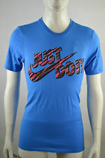Nike Homme Just do it T-Shirt Blau BLue Training Size Selectable