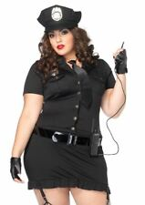 Dirty Cop Women's Sexy Police Officer Curvy Size Costume Uniform Fancy Dress