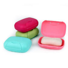 Plastic Bathroom Shower Washing Soap Case Travel Cover Dish Box Holder Container