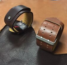 Size 16/18/20/22mm Extra Long Leather Wristband Cuff Watch Strap/Band #064