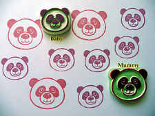 Panda Rubber Stamp, Cute Panda Hand carved Rubber Stamp, Woodland Animal Stamp