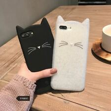 Shockproof Cute Cat Rubber Silicone TPU Case Cover For iPhone 8 6S 7 Plus 5S SE