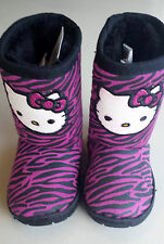 Pink/Black HELLO KITTY Boots Zebra Stripe Toddler Girls