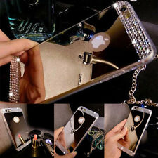 Luxury TPU Ultra-thin Mirror Crystal Metal Case Cover for Apple iPhone 7 7Plus