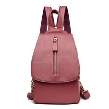 5 Colors Pu Leather Flap Pocket Small Backpack For Teenager Girl