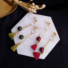Earring Pear Candy Colors Fashion 1 Pair Long Section Tassel
