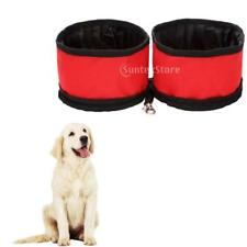 Double Dog Food Water Bowl Dish Zip Travel Carrier Feeder for Small Pet Cat Bird