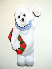 3D- U Pick - XM24 Christmas White Polar Bears Gift Card Scrapbook Embellishment