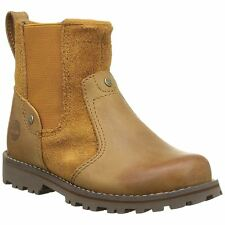 Timberland Asphalt Trail Chelsea Wheat Youth Leather Suede Chelsea Ankle Boots