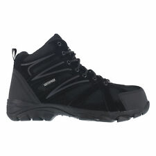 Knapp Mens Black Leather Mesh WP Hiker Boots Ground Patrol Comp Toe