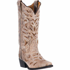 Laredo Womens Tan Cowboy Boots Leather Cowboy Boots Cowboy Square Toe