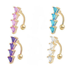 Surgical Steel Triangle Belly Button Navel Piercing Ring Summer Body Jewelry Bar