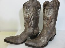 Lucchese Womens Western Boots Dessert Plato Roses size 9.5B Brand New
