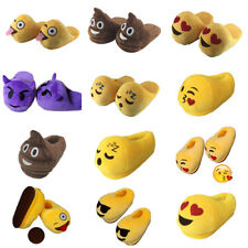 Expression cotton slippers Plush furry slippers Home cotton shoe Smile slippers