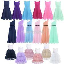Flower Girls Princess Party Kids Bridesmaid Formal Pageant Wedding Tutu Dresses