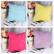 Solid Color Stripe Corduroy Throw Pillow Case Gift Sofa Decorative Cushion Cover