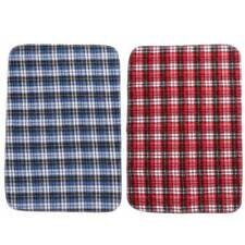 Adult Children Waterproof Plaid Bed Seat Pad Hospital Incontinence Washable