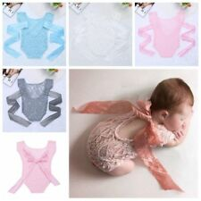 Newborn Lace Romper Baby Infant Photography Photo Prop Bodysuit Clothing Rompers
